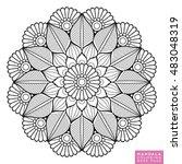 Flower Mandala. Vintage...