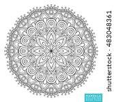 flower mandala. vintage... | Shutterstock .eps vector #483048361