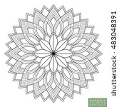 flower mandala. vintage... | Shutterstock .eps vector #483048391