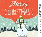 merry christmas hand lettering... | Shutterstock .eps vector #483052159