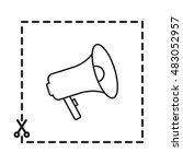 line icon   megaphone | Shutterstock .eps vector #483052957