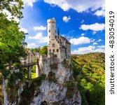 most beautiful castles of... | Shutterstock . vector #483054019
