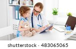 friendly happy doctor... | Shutterstock . vector #483065065