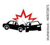 car crash icons vectors | Shutterstock .eps vector #483072871