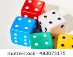 dice | Shutterstock . vector #483075175