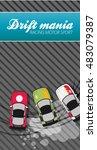 top view of a drifting car   Shutterstock .eps vector #483079387