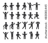 people person basic body... | Shutterstock .eps vector #483081445