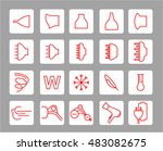 hair dryer properties icons.... | Shutterstock .eps vector #483082675