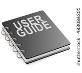 user guide book isolated on... | Shutterstock . vector #483086305