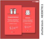 gift box card template  ui ux...