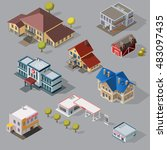 isometric high quality city... | Shutterstock .eps vector #483097435