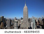 new york empire state building... | Shutterstock . vector #483098455