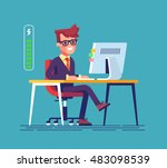 handsome young businessman... | Shutterstock .eps vector #483098539