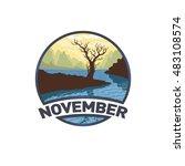 vector image of a logo emblem... | Shutterstock .eps vector #483108574