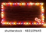 christmas light and decorations ... | Shutterstock . vector #483109645
