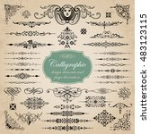 calligraphic design elements... | Shutterstock .eps vector #483123115