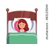 woman sleeping peacefully... | Shutterstock .eps vector #483125044