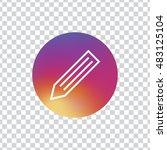 pencil circle icon vector  clip ...