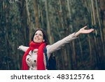 Blissful Woman Enjoys Freedom...