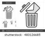 email delete vector line icon... | Shutterstock .eps vector #483126685