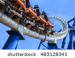 passengers restrained in seats... | Shutterstock . vector #483128341