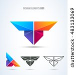 abstract vector letter t logo... | Shutterstock .eps vector #483133069