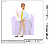chef construction engineer man... | Shutterstock .eps vector #483138109