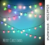 colorful christmas lights... | Shutterstock .eps vector #483139525