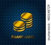 coins royal golden   blue...   Shutterstock .eps vector #483148729