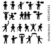 people person stick figure... | Shutterstock .eps vector #483149161
