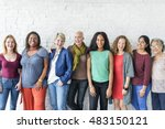 group of women happiness... | Shutterstock . vector #483150121