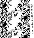 black and white seamless... | Shutterstock .eps vector #483152035