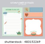 cute daily calendar  and to do... | Shutterstock .eps vector #483152269