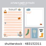 cute daily calendar  and to do... | Shutterstock .eps vector #483152311