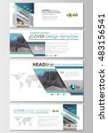 social media and email headers... | Shutterstock .eps vector #483156541