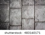 stone wall background in... | Shutterstock . vector #483160171