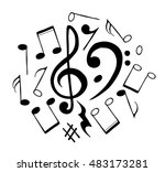 notes set collection vector... | Shutterstock .eps vector #483173281