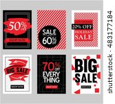 big sale poster collection in... | Shutterstock .eps vector #483177184