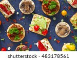 finger food  vegetarian   fresh ... | Shutterstock . vector #483178561