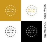 beauty studio logo | Shutterstock .eps vector #483179185
