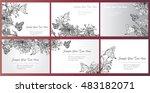 set hand drawn vector... | Shutterstock .eps vector #483182071