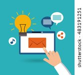 mobile social media flat icons... | Shutterstock .eps vector #483191251