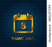 8th royal golden   blue... | Shutterstock .eps vector #483197299