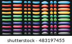 set of colorful buttons for... | Shutterstock .eps vector #483197455