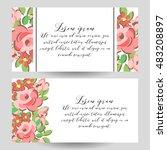 vintage delicate invitation... | Shutterstock . vector #483208897