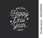 happy new year lettering... | Shutterstock .eps vector #483209044