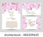 vintage delicate invitation... | Shutterstock . vector #483209635