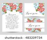 vintage delicate invitation... | Shutterstock . vector #483209734