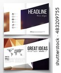 set of business templates for... | Shutterstock .eps vector #483209755