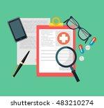 medical diagnosis flat...   Shutterstock .eps vector #483210274